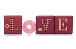 Día de tarjetas del día de San Valentín del amor Imágenes de archivo libres de regalías