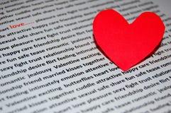 Día de tarjetas del día de San Valentín del amor Fotografía de archivo libre de regalías