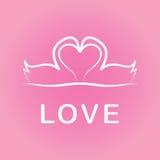 Día de tarjetas del día de San Valentín del amor Fotografía de archivo