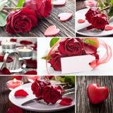 Día de tarjetas del día de San Valentín del collage Fotografía de archivo libre de regalías