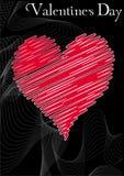 Día de tarjetas del día de San Valentín del corazón Foto de archivo