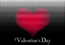 Día de tarjetas del día de San Valentín del corazón Fotos de archivo