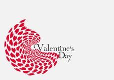 Día de tarjetas del día de San Valentín del corazón Imagenes de archivo