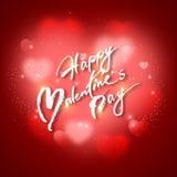 Día de tarjetas del día de San Valentín del diseño del vector imágenes de archivo libres de regalías