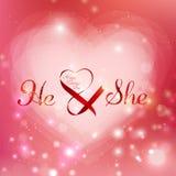 Día de tarjetas del día de San Valentín del diseño del vector foto de archivo