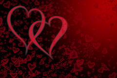 Día de tarjetas del día de San Valentín del fondo Fotografía de archivo