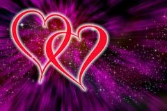 Día de tarjetas del día de San Valentín del fondo foto de archivo libre de regalías