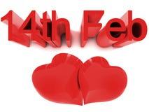 Día de tarjetas del día de San Valentín del St. del 14 de febrero Imagenes de archivo