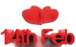 Día de tarjetas del día de San Valentín del St. del 14 de febrero Foto de archivo