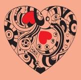 Día de tarjetas del día de San Valentín del St - símbolo del corazón Imagenes de archivo