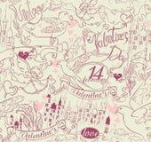 Día de tarjetas del día de San Valentín del vintage. Fotos de archivo