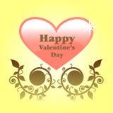 Día de tarjetas del día de San Valentín feliz Foto de archivo