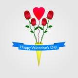 Día de tarjetas del día de San Valentín feliz Fotografía de archivo libre de regalías
