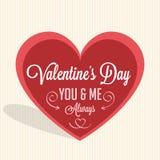 Día de tarjetas del día de San Valentín feliz stock de ilustración