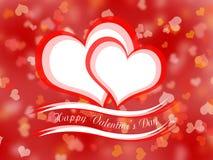 Día de tarjetas del día de San Valentín feliz ilustración del vector