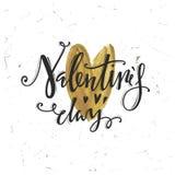 Día de tarjetas del día de San Valentín feliz Cartas caligráficas Foto de archivo
