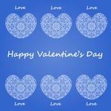 Día de tarjetas del día de San Valentín feliz de la postal ilustración del vector