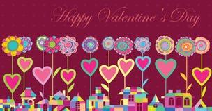 Día de tarjetas del día de San Valentín feliz de la tarjeta de felicitación Imagenes de archivo