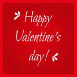 ¡Día de tarjetas del día de San Valentín feliz de la tarjeta! Fondo con los corazones Foto de archivo libre de regalías