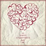 Día de tarjetas del día de San Valentín feliz del fondo Imágenes de archivo libres de regalías