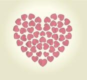 Día de tarjetas del día de San Valentín feliz del fondo Foto de archivo libre de regalías