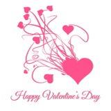 Día de tarjetas del día de San Valentín feliz Estalle de corazón rosado Fotos de archivo