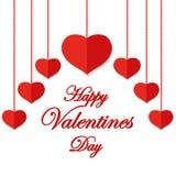 Día de tarjetas del día de San Valentín feliz Frase del saludo Fotografía de archivo libre de regalías