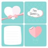 Día de tarjetas del día de San Valentín feliz Letra de la tarjeta de felicitación Diseño con el corazón Imagen de archivo libre de regalías