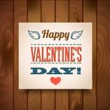 Día de tarjetas del día de San Valentín feliz - tarjeta de felicitación Fotos de archivo