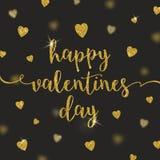 Día de tarjetas del día de San Valentín feliz - tarjeta de felicitación stock de ilustración