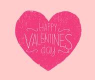 Día de tarjetas del día de San Valentín feliz usado Imagen de archivo