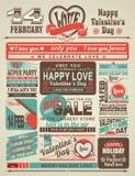 Día de tarjetas del día de San Valentín festivo del periódico de las noticias Foto de archivo libre de regalías