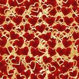 Día de tarjetas del día de San Valentín. Fondo inconsútil de corazones Fotos de archivo libres de regalías