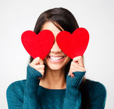 Día de tarjetas del día de San Valentín lindo imagen de archivo