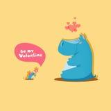 Día de tarjetas del día de San Valentín - par lindo de animales Fotos de archivo libres de regalías
