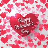 Día de tarjetas del día de San Valentín rojo del corazón Imagen de archivo