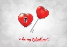 Día de tarjetas del día de San Valentín - sea mi tarjeta del día de San Valentín Imágenes de archivo libres de regalías