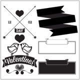 Día de tarjetas del día de San Valentín. Sistema Fotografía de archivo libre de regalías
