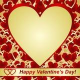 Día de tarjetas del día de San Valentín. Tarjeta o una escritura de la etiqueta. Imágenes de archivo libres de regalías