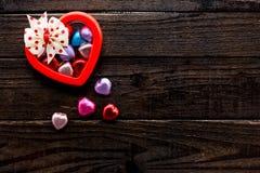 Día de tarjetas del día de San Valentín y el día más dulce Fotografía de archivo