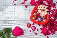 Día de tarjetas del día de San Valentín y el día más dulce Imagen de archivo libre de regalías