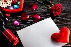 Día de tarjetas del día de San Valentín y el día más dulce Fotos de archivo