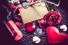 Día de tarjetas del día de San Valentín y el día más dulce Imagenes de archivo