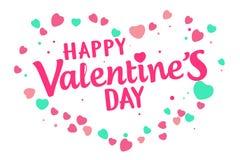 Día de tarjetas del día de San Valentín feliz Fotos de archivo libres de regalías