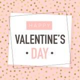 Día de tarjetas del día de San Valentín feliz Diseño de la tarjeta de felicitación del vector Foto de archivo