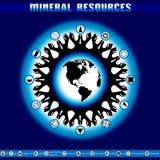 Día de tierra Destrucción de reservas minerales Imágenes de archivo libres de regalías