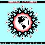 Día de tierra Destrucción de reservas minerales Imagen de archivo libre de regalías