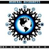 Día de tierra Destrucción de reservas minerales Foto de archivo