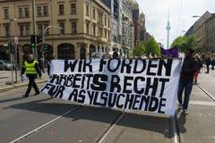 Día de trabajo internacional en Berlín Foto de archivo libre de regalías