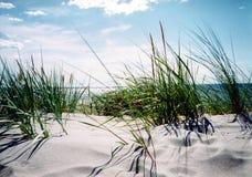 Día de verano claro por la playa fotos de archivo